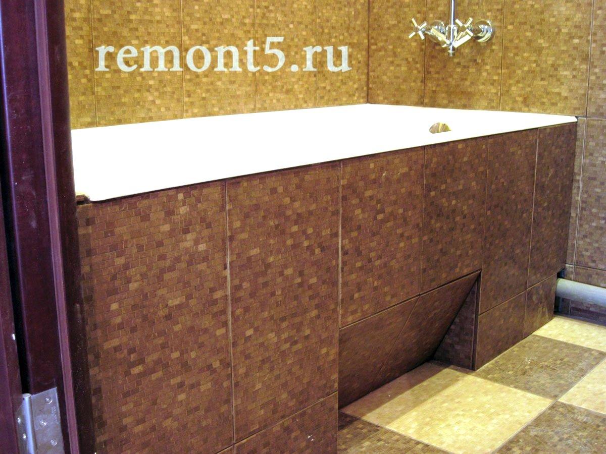 Экран ванной из плитки фото
