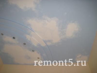 как нарисовать облака на потолке
