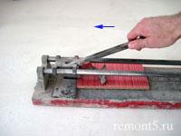 отрезание плитки