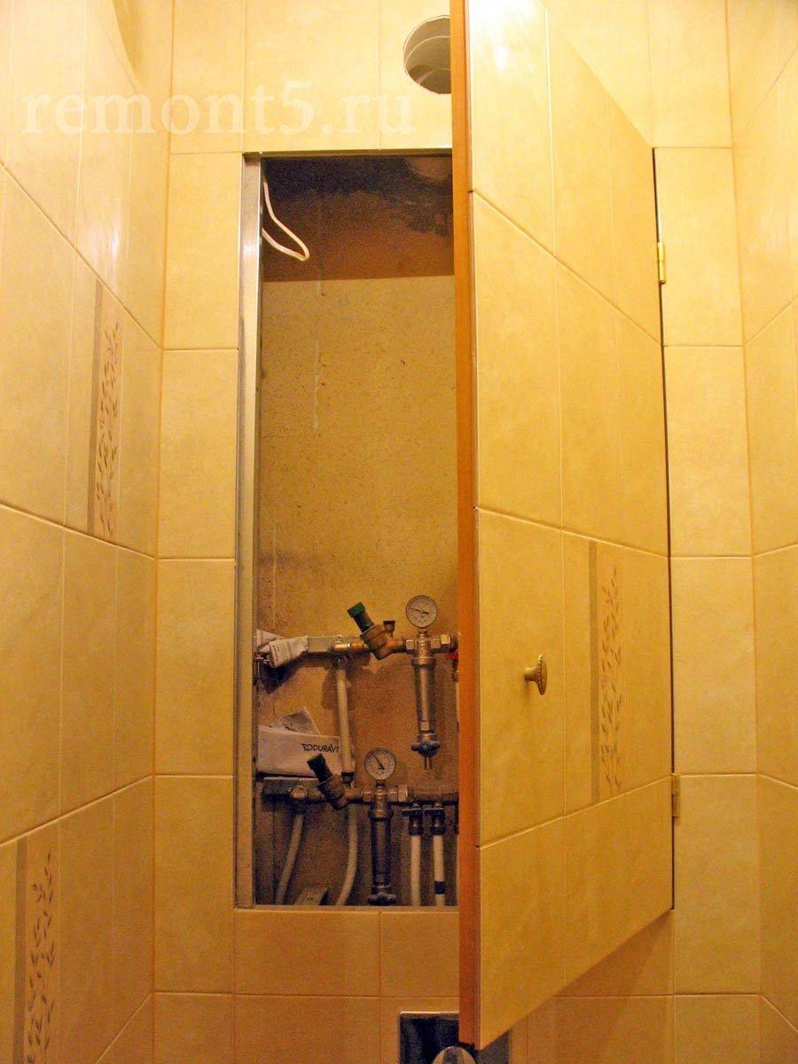 Двери под плитку для сантехнического шкафа в туалете