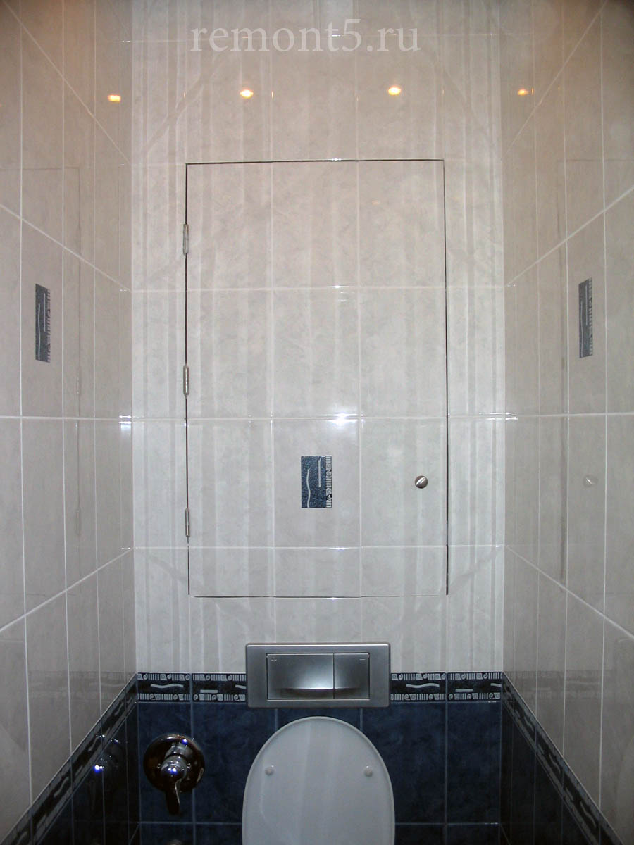 Лючок декоративный для техшкафа в туалете